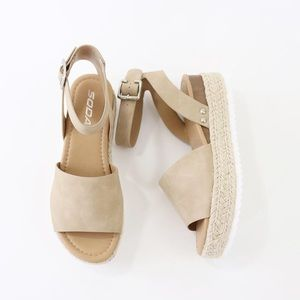 7c7433a00e92 Soda Shoes - topic taupe ankle strap flatform sandal espadrille